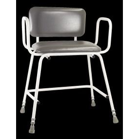 Torbay Bariatric Perching Stool - Stool, Arms And Padded Backrest