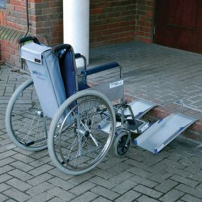 Portable Wheelchair Channel Ramp and Carry Bag