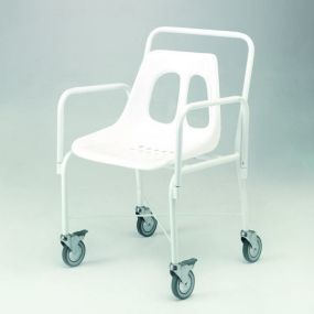 Standard Mobile Shower Chair With Detachable Arms (2 Brakes)
