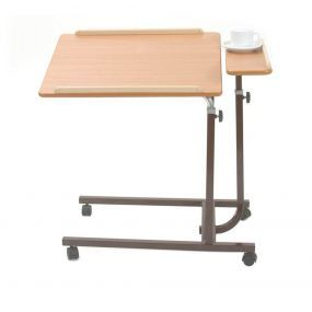 Mobile Split Level Overbed Top Table - Mobile (Brown)