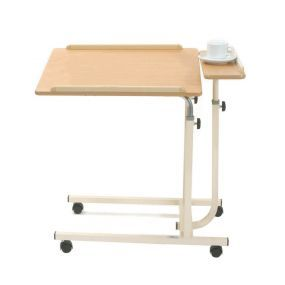 Mobile Split Level Overbed Top Table - Moblie (Cream)