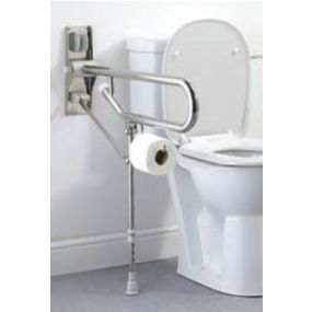 Stainless Steel Fold Up Toilet Rail