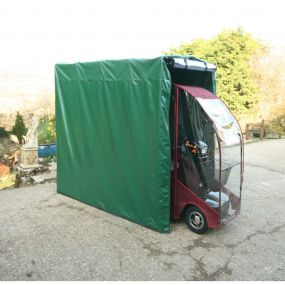 The Executive Tall Mobility Scooter Garage - With Clear Door