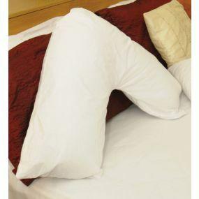 Orthapedic V Shaped Pillow - Spare Pillowcase (White)