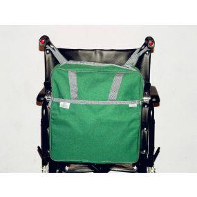 Deluxe Wheelchair Bag With Zipper Fastenings - Green