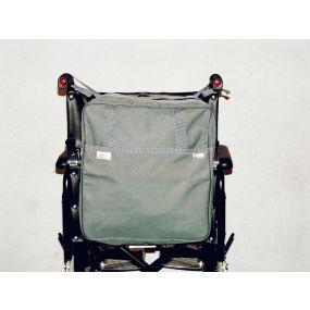 Deluxe Wheelchair Bag With Zipper Fastenings - Grey