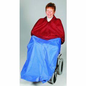 Heavy Duty Wheelchair Cape - Royal Blue (No Sleeves)