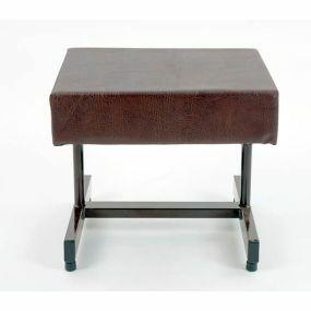 Wide Footstool (Brown)