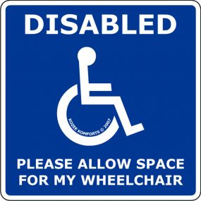 Window Cling Stickers - Allow Space For My Wheelchair (square)