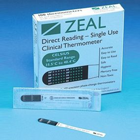 Zeal Single Use Thermometers