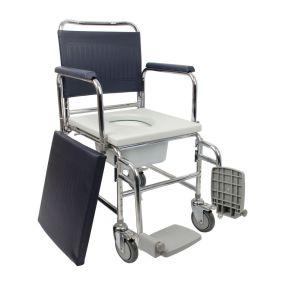 Wheeled Commode Chair - Narrow