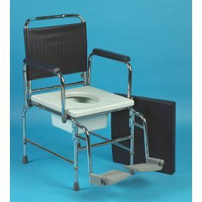 Adjustable Height Chrome Commode Chair - 18