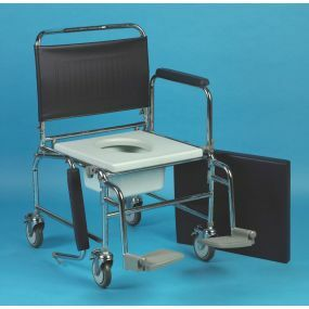 Wheeled Commode Chair - Heavy Duty