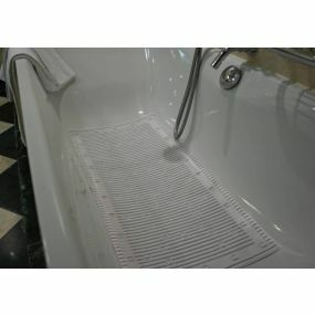 Antimicrobial Slip Resistant Bath Mat - White