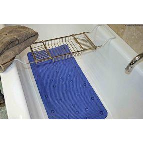 Antimicrobial Slip Resistant Bath Mat - Blue