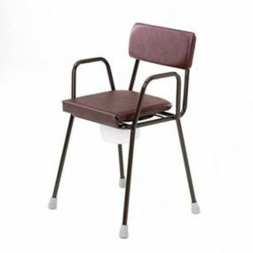Armchair Stacking Commode - Adjustable Height