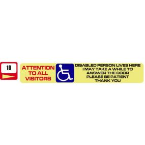 Sticker Haus Attention To All Visitors sticker no 10