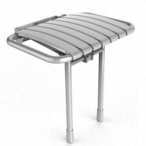Bama Wall Mounted Shower Seat - Grey