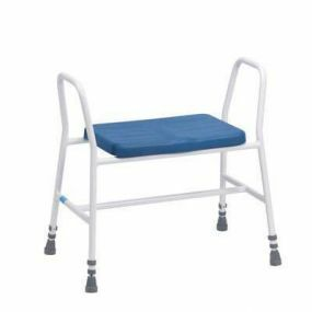 Bariatric Perching Stool (Tubular Arms in White)