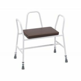 Bariatric Perching Stool (Tubular Back in Brown)