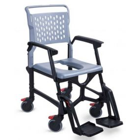 Bath Mobile Shower Commode Chair
