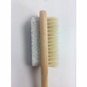 Bath Wooden Handled Brush With Pumice
