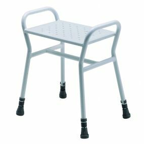 Belmont Adjustable Shower Stool - Metal Seat