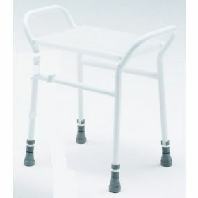 Belmont Adjustable Shower Stool - Plastic Seat