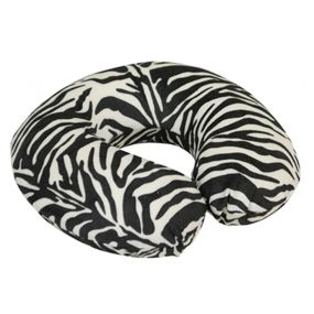 Memory Foam Neck Cushion - Black/White Zebra