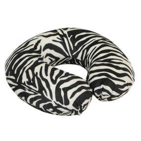 Memory Foam Neck Cushion - Black/White Zebra