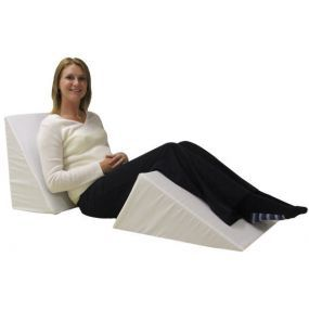 Multi-Way Bed Wedge Cushion - White (19.5x24x12