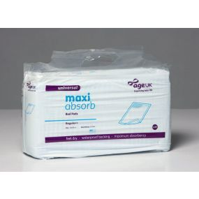 Age Co Maxi Absorb Bed Pads - 60cm x 60cm - Pack of 30