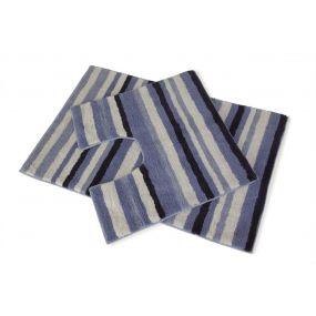 Candy Stripe 2pc Bath Set - Blue