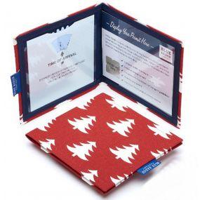 Cloth Blue Badge Wallet - Christmas Tree