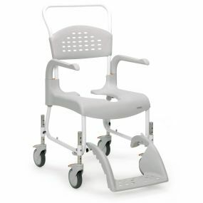 Etac Clean Mobile Shower / Commode Chair - Height Adjustable - Attendant