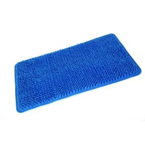 Comfort PVC Bath Mat - Blue (65X37cm)