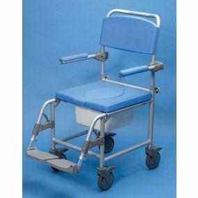 Aluminium Attendant Commode & Shower Chair