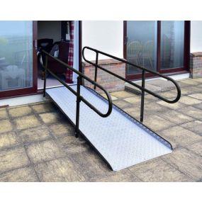 Deluxe Aluminium Wheelchair Ramp with Handrails
