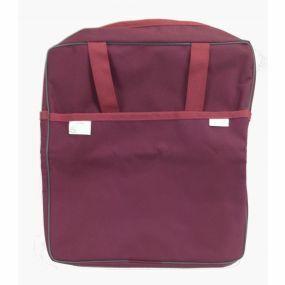 Deluxe Wheelchair Bag With Zipper Fastenings - Burgundy