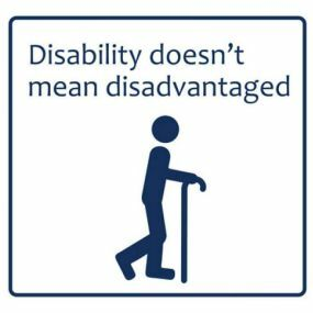 Car Sticker - Disability doesn't mean disadvantaged