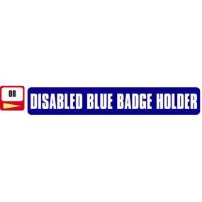 Sticker Haus Disabled Blue Badge Holder sticker no 8
