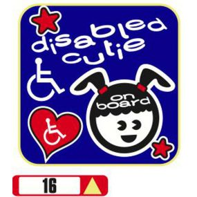 Sticker Haus Disabled Cutie on board (female) sticker no 16