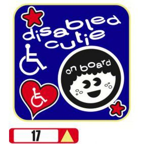 Sticker Haus Disabled Cutie on board (male) sticker no 17