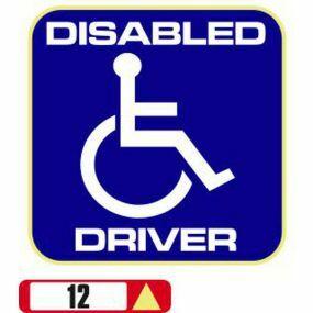 Sticker Haus Disabled Driver sticker no 12