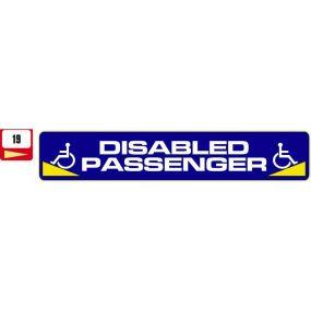 Sticker Haus Disabled Passenger sticker no 19