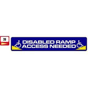 Sticker Haus Disabled Ramp Access Needed sticker no 20