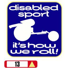 Sticker Haus Disabled Sport It's How We Roll sticker no 13