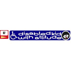 Sticker Haus Disabled With Attitude sticker no 7