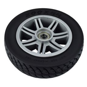 Drive Medical Scout 4 - Front Wheel & Tyre Assembly (Black)