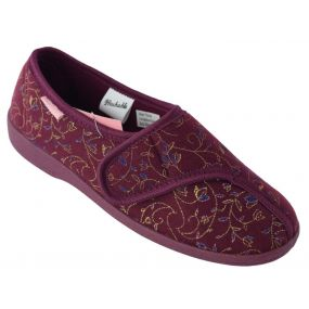 Dunlop Bluebell Ladies Slippers - Size 5 (Burgundy)